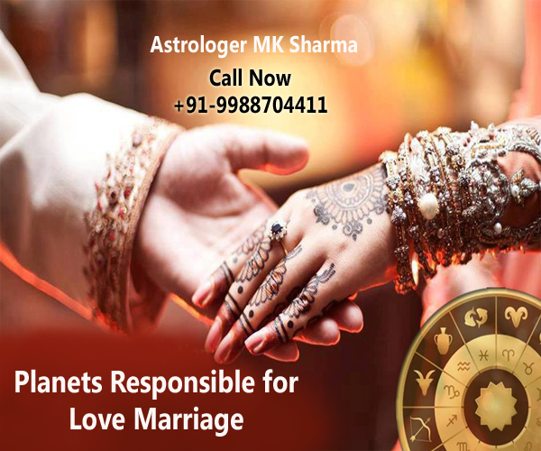 Planets responsible for love marriage